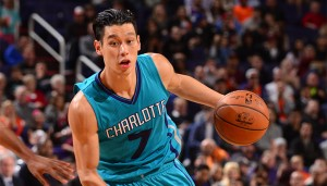 PHOENIX, AZ - JANUARY 6: Jeremy Lin #7 of the Charlotte Hornets handles the ball against the Phoenix Suns on January 6, 2016 at U.S. Airways Center in Phoenix, Arizona. NOTE TO USER: User expressly acknowledges and agrees that, by downloading and or using this photograph, user is consenting to the terms and conditions of the Getty Images License Agreement. Mandatory Copyright Notice: Copyright 2016 NBAE (Photo by Barry Gossage/NBAE via Getty Images)