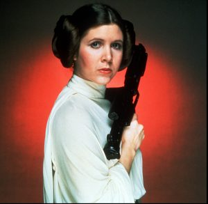 "(UNDATED) Actress Carrie Fisher as Princess Leia from the classic film ""Star Wars,"" soon to be released on video. ORG XMIT: UT3304"