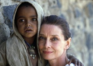 March 16-17, 1988, Ethiopia --- Soon after becoming a UNICEF ambassador, Audrey Hepburn went on a mission to Ethiopia, where years of drought and civil strife had caused terrible famine. --- Image by © Derek Hudson/Sygma/Corbis