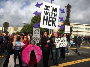 Protestors participate in the Women's March in Oakland, Calif. on Saturday, Jan, 21, 2017. (Ray Chavez/Bay Area News Group)