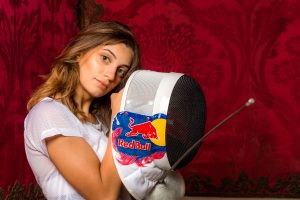 Rossella Fiamingo poses for a portrait during Red Bull poto shoot in Catania, Italy, on March the 11, 2017